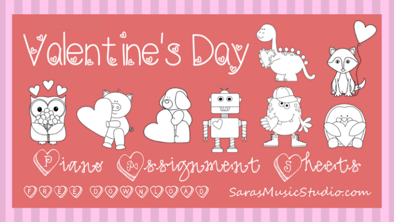 Valentine's Day Assignment Sheets