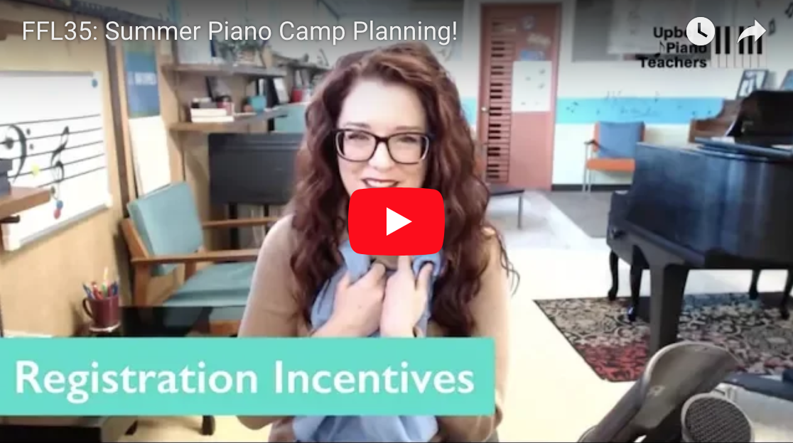 Basic Summer Piano Camp Planning [VIDEO]