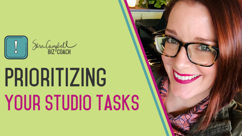 Ditch the To-Do List and Start Prioritizing in Your Studio